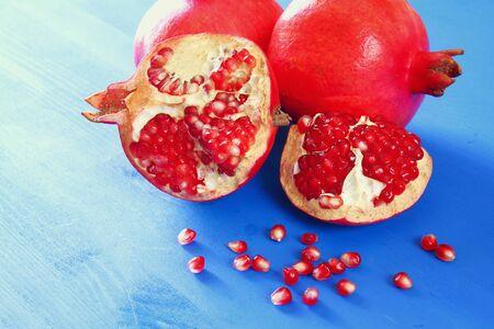 Rosh Hashanah Jewesh New Year Holiday Concept Pomegranate
