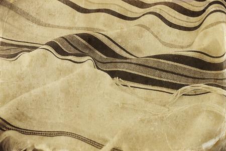 Prayer Shawl - Tallit, jewish religious symbol. Vintage stile filtered image