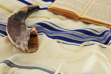 Prayer Shawl - Tallit, jewish religious symbol. Stockfoto