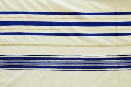 White Prayer Shawl - Tallit background, jewish religious symbol.