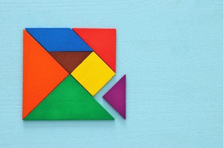 image of retro tangram puzzle.