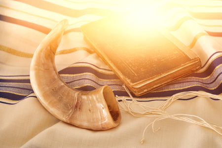 Abstract image of Prayer Shawl - Tallit, jewish religious symbol.