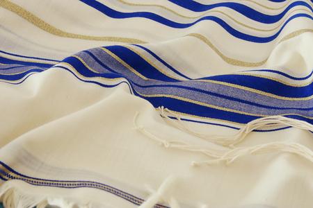 yom kipur: Prayer Shawl - Tallit, jewish religious symbol. Stock Photo