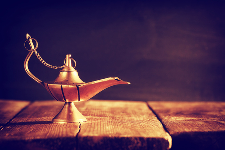 Image of magical lamp. Lamp of wishes Stock Photo
