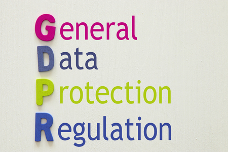 General Data Protection Regulation (GDPR) concept