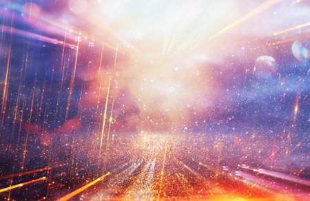 Bright galaxy or fantasy background. Abstract light burst . magical and mystery concept Stock Photo