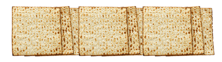 passover banner background with matzoh isolated on white