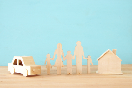 Insurance concept. family life, financial and health issues Stock Photo