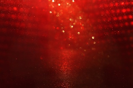abstract background of red bokeh lights