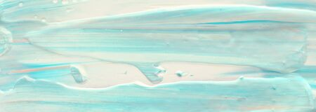 photography of abstract marbleized effect background. Blue, mint and white creative colors. Beautiful paint. banner