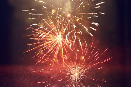 Background of abstract holiday firework Stock Photo