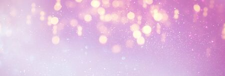 background of abstract glitter lights. purple, pink, gold and silver. de focused. banner Stock Photo - 128865657