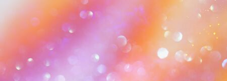 background of glitter vintage lights . silver, gold, pink and white. de-focused Stock Photo - 128865664