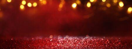abstract Red glitter lights background. defocused Reklamní fotografie