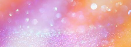 background of glitter vintage lights . silver, gold, pink and white. de-focused Stock Photo - 128866405