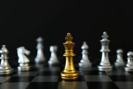 Image d'un jeu d'échecs. Concept d'entreprise, de concurrence, de stratégie, de leadership et de réussite