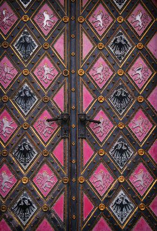 background of old grunge, medieval metal texture. part of antique old door