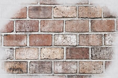 abstract architecture sketch style image of old brick wall Archivio Fotografico - 137371283