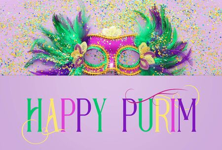 Purim festival celebration concept (jewish carnival holiday) Stock Photo