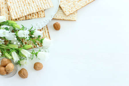 Pesah celebration image (jewish Passover holiday) with matzoh