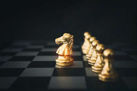Image of chess game. Business, competition, strategy, leadership and success concept Stockfoto