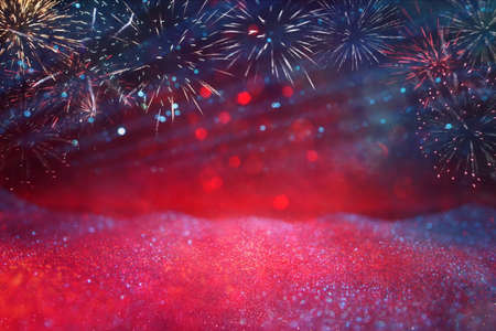 abstract holiday firework background. 4th of july concept Standard-Bild