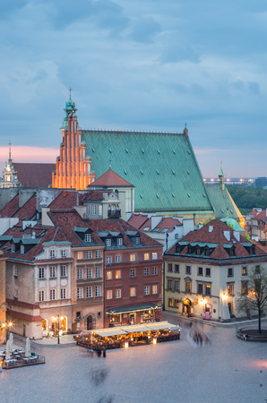 Warsaw, Poland, panorama of old city with st John cathedral