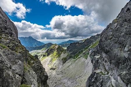 orla: Tatra mountains panorama from Orla Perc, Poland landscape,