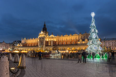 Krakow, Poland, Christmas on Main Market Square