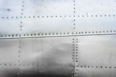 Aluminum sheets on the old plane