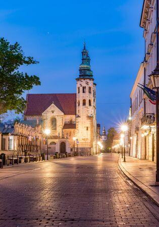 Romanesque St andrew church on Grodzka street, Krakow, Poland