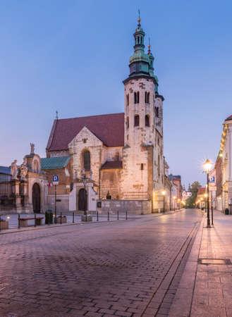 Romanesque St andrew church on Grodzka street, Krakow, Poland Фото со стока