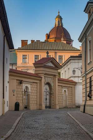 Picturesque old town street, Krakow, Poland
