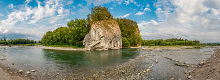 Little Poland, river Bialka gorge sunny afternoon 스톡 콘텐츠