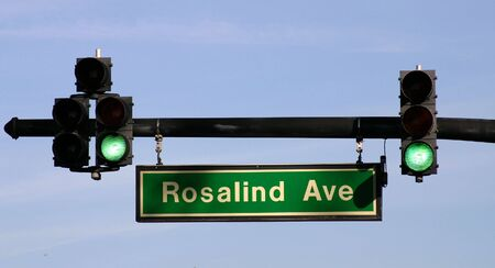 Traffic Light and Street Sign.  photo
