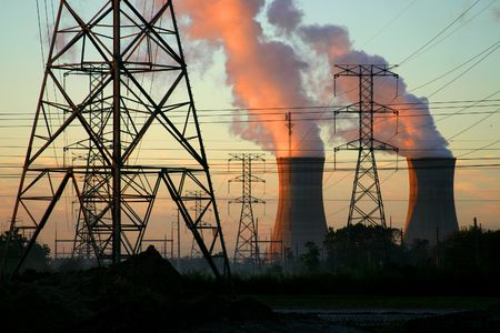 central el�ctrica: Las centrales el�ctricas y l�neas de conducci�n el�ctrica