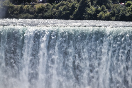Water pouring over Niagara Falls  Image shows the water as it falls over the Horseshoe Falls Reklamní fotografie