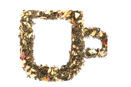 Tee in Form eines Glas Standard-Bild - 26372112