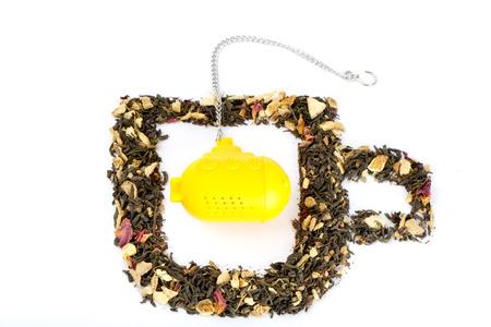 Tea in shape of a glass with submarine tea-bag