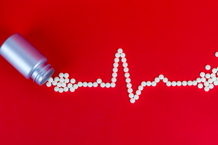 ECG made with pills Standard-Bild