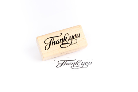 Thank you stamp Standard-Bild