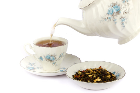 Teapot and a cup