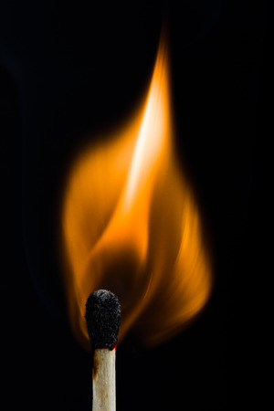 Matchstick burning photo