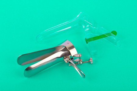 gynecologic: Plastic and metal speculum