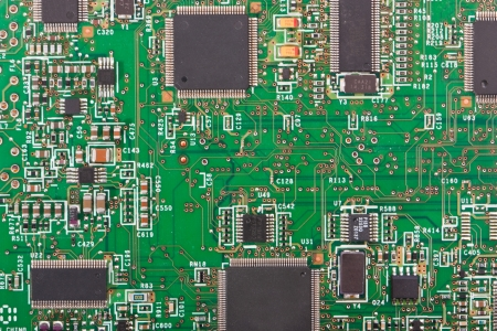 A texture of a motherboard closeup.