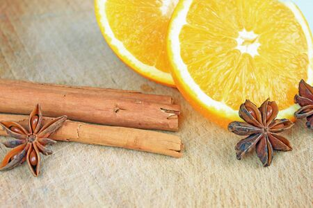 flavorsome: christmas decoration: dried orange, cinnamon and anise