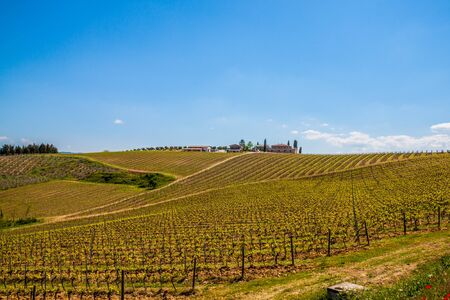 Classic view of scenic Tuscany landscape, Italy