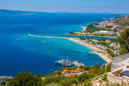 クロアチア、オミスの町の風景。ダルマチア海岸 写真素材