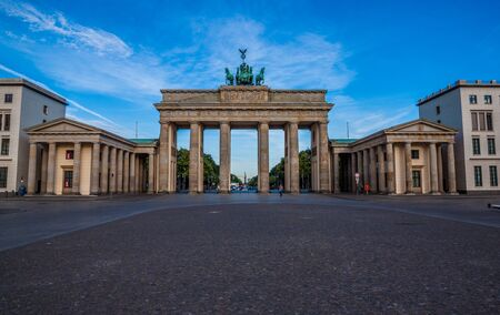 Berlin Brandenburg Gate (Brandenburger Tor), Berlin, Germany Banco de Imagens