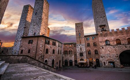 San Gimignano, Tuscany, Italy. San Gimignano is typical Tuscan medieval town in Italy. Stock Photo
